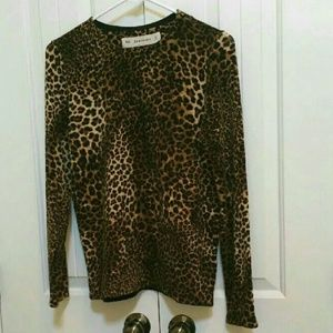 ZARA Knit Leopard Print long Sleeve Sweater